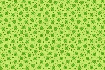 绿色四叶草无缝背景矢量图