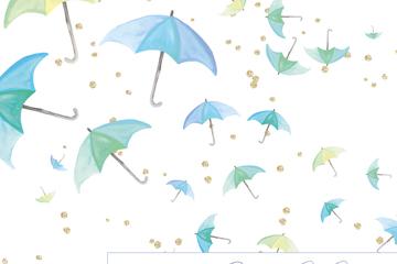 彩绘雨伞无缝背景矢量素材