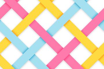 彩色编织条纹背景矢量素材