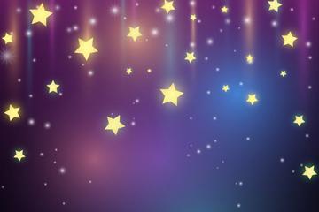 灿烂星星背景矢量素材