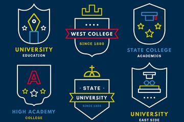 6款创意大学标志矢量素材
