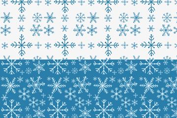 2款创意雪花纹无缝背景矢量图