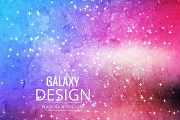 彩色宇宙银河星星矢量素材