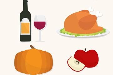 9款精致秋季食物菜品矢量素材
