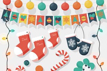 11款彩色圣诞节装饰物矢量素材