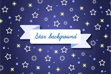 白色星星无缝背景矢量素材