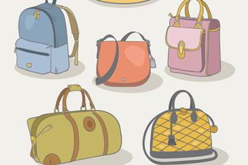 5款时尚包具设计矢量图
