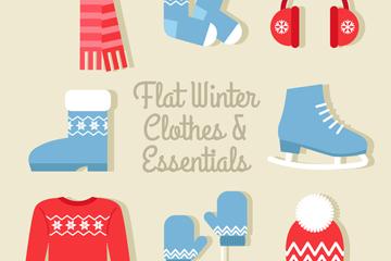 8款冬季服饰和配饰矢量素材