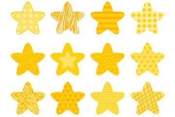 16款�S色花�y星星矢量素材