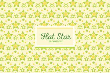黄绿色彩绘星星无缝背景矢量素材