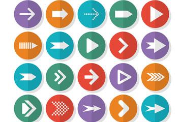 25款圆形箭头图标矢量素材