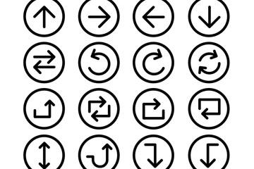 20款简洁箭头图标矢量素材