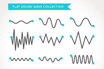12款精致声波设计矢量素材