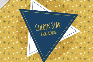 金色星星无缝背景矢量素材