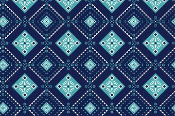 蓝色菱形花纹背景矢量素材