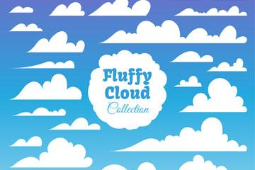 25款动感云朵设计矢量素材