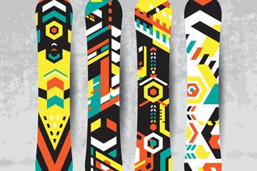 4款��意滑雪�伟逶O�矢量素材