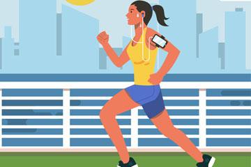 时尚带臂带的跑步女子乐虎国际线上娱乐乐虎国际