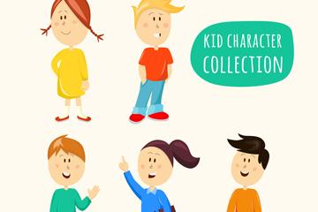5个创意儿童设计矢量素材