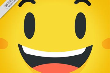 可爱黄色笑脸设计矢量素材