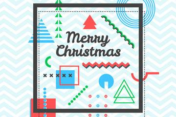 抽象图案圣诞节贺卡矢量素材