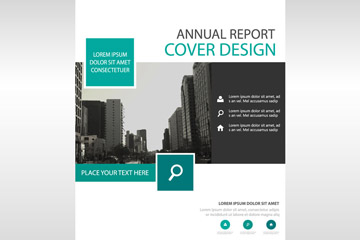 时尚年度报告封面设计矢量图