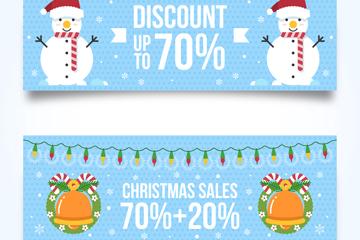 2款可爱圣诞节促销banner矢量图