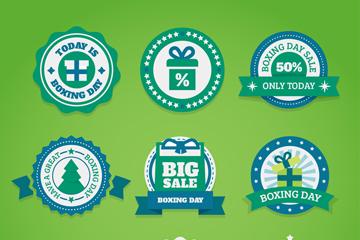 9款绿色创意节礼日促销标签矢量