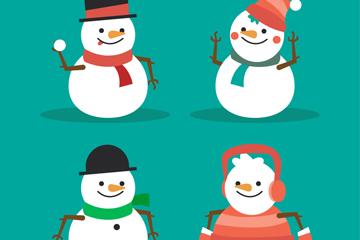 4款可爱笑脸圣诞雪人乐虎国际线上娱乐图