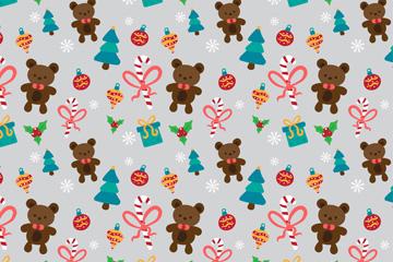 彩色圣诞礼物无缝背景矢量图