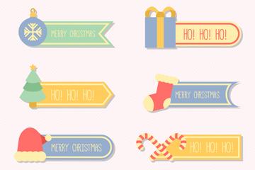 8款彩色圣诞节标签矢量素材
