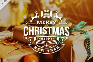 精美圣诞礼盒海报矢量素材