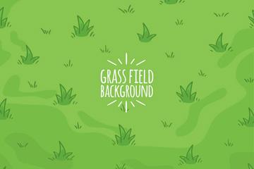 绿色彩绘草地矢量素材