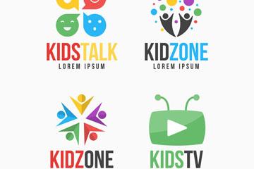 4款彩色儿童节目标志乐虎国际线上娱乐乐虎国际