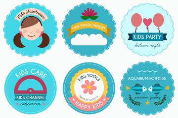 6款圆形儿童商务标志乐虎国际线上娱乐乐虎国际