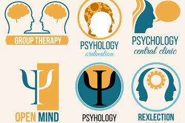 6款创意心理学元素标志矢量素材