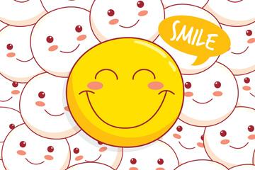 彩绘黄色笑脸表情背景最新网络赌博网站