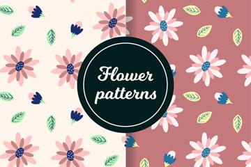 2款粉色花朵无缝背景乐虎国际线上娱乐图