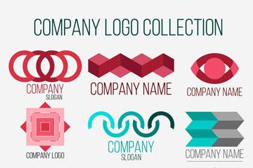 9款彩色创意公司标志矢量图