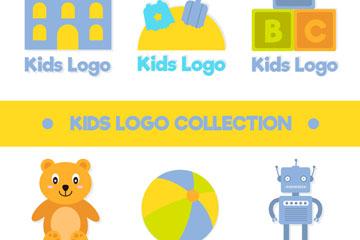 6款彩色儿童商务标志矢量素材