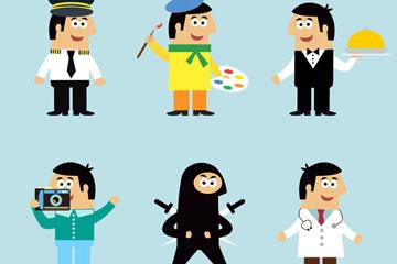 6款卡通职业男子乐虎国际线上娱乐乐虎国际