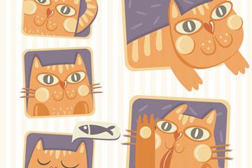 5款彩绘猫咪设计乐虎国际线上娱乐图