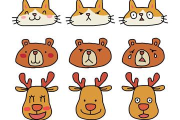 9款可爱彩绘动物表情乐虎国际线上娱乐乐虎国际