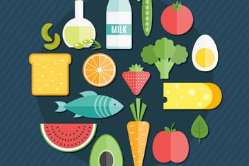 18款精致健康食物矢量素材