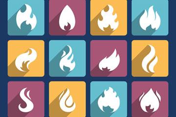 16款创意火焰图标矢量素材