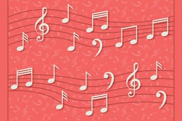 白色五线谱音符乐虎国际线上娱乐乐虎国际
