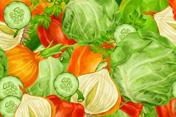 彩绘蔬菜无缝背景设计乐虎国际线上娱乐乐虎国际