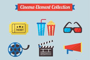 10款彩色电影元素矢量素材