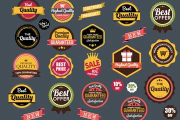 34款彩色促销标签矢量素材