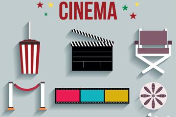 9款精致电影院元素矢量素材